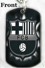 FC BARCELONA SOCCER - Dog tag Necklace or Keychain + FREE ENGRAVING