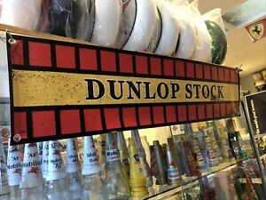 Dunlop Stock Weathered Style Vinyl Banner New