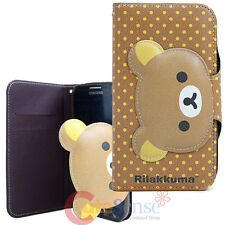 San X Rilakkuma Samsung Galaxy S4 Phone Case Card Wallet Type Phone Holder