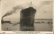 Cunard Liner Scythia. Launch at Barrow 1920 by Sankey.
