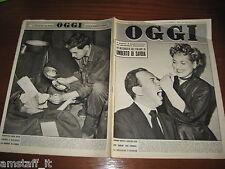 RIVISTA OGGI 1951/15=JUDY HOLLIDAY=JOSE FERRER=CONTE MARZOTTO=JOE DI MAGGIO=