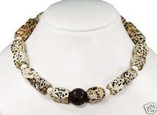 dalmatinerjaspis Collar con perlas de agua dulce y lava