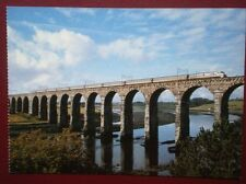 POSTCARD A EAST COAST INTERCITY 125 CROSSES THE ROYAL BORDER BRIDGE AT BERWICK