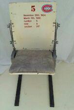 ORIGINAL MONTREAL FORUM STADIUM SEAT....FREE SHIPPING IN THE CONTINENTAL U.S.