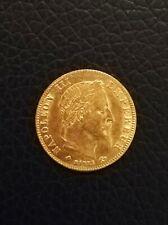 5 francs or Napoléon III 1868 A Paris état sup.