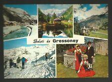 AD8388 Aosta - Provincia - Saluti da Gressoney - Vedute