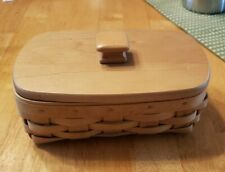 Longaberger Small Rectangular 2004 Basket with Liner and Wooden Lid