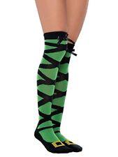 Womens Witch Socks Halloween Fancy Dress Accessory Green Long Knee High Amscan