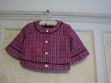 NWT Janie And Jack  Autumn Rose Girls  Bouclé Jacket  3 3T  Plum Rose
