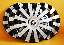 "PEUGEOT 206,306,605 ,Partner,etc.15"" WHEEL TRIMS/COVERS HUB CAPS,Quantity 4"