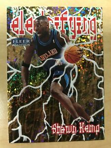1998-99 Fleer Tradition Electrifying #7 Shawn Kemp Foil Insert Cavaliers