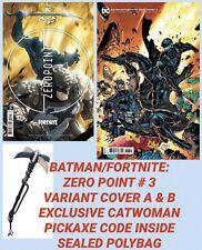 BATMAN FORTNITE comic # 3 GI JOE SNAKE EYES VARIANT SEALED CATWOMAN PICKAXE C@DE
