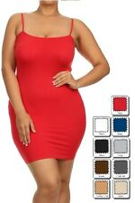 Dress Top with Spaghetti Straps Camisole Body-Con Super Soft Stretchy Plus Size