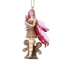 # Amy Brown Fairy Ornament Gingerbread Cookie Wing Fairie Statue Christmas Decor