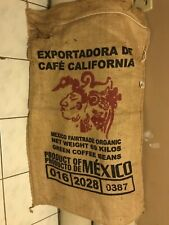 Coffee Bean Burlap Bag - Product of Mexico - 28 x 44""