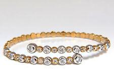 1.02ct natural diamonds Flexible bangle bracelet 18kt F/G Vs Petite Adjust+