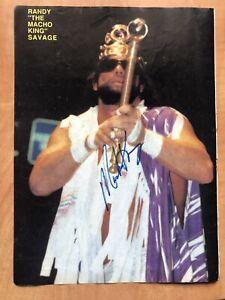 Macho KIng Man Randy Savage & Bushwhackers Signed Autographed Magazine Photo