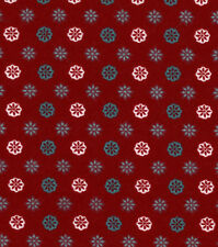 Flannel Fabric CRIMSON FLORAL TRELLIS Pattern 3 yds X 42 in 100% Cotton