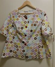 NEW Donuts Blouse with self tie sleeves, size 12