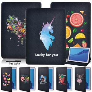 Tablet LEATHER STAND Fold Case Cover Fit Huawei MediaPad T3 8.0/T3 10/T5 10