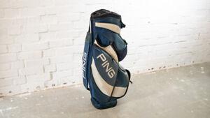 Ping Cartbag Blau Weiss Golftasche Golf bag #1152