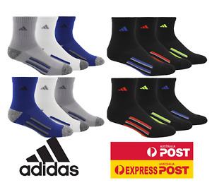 6 x adidas KIDS GIRLS BOYS CREW SOCKS - High Quarter Sports Socks - ADIDAS