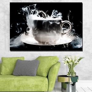 Caffeine Dreams Cafe and Coffee Canvas Art Print for Wall Decor