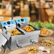 Commercial Electric Deep Fryer Restaurant French Fry Bar Tank With Basket Size Opt