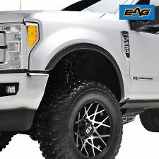 EAG Fits 17-18 Ford F250 ABS 4PCS Textured Satin Black Fender Flares