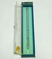 "Kreisler Ladies Watch Band Stretch White Gold Filled 6mm 4.75"" NOS Vintage"