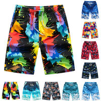 Summer Beach Shorts Pants Men Colorful Drawstring Swimming Trunks M-4XL Surprise
