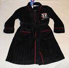 St Kilda Saints AFL Boys EST Black Embroidered Fleece Dressing Gown Size 16 New