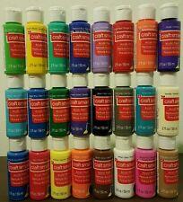 Seal 24 Craft Smart Acrylic Paint Bottles 2 Fl.Oz Set Art Supplies Priority Mail