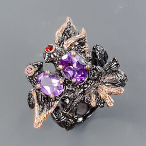 gemstone ring jewelry Amethyst Ring Silver 925 Sterling  Size 7 /R175516