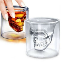 Crystal Skull Head Vodka Whiskey Shot Glass Cup Drinking Ware Clean Mug Barware
