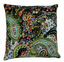 "Royal Kantha Handmade Paisley Home Decor Cushion-Cover Sofa Throw Pillow 16"""