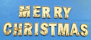 Merry Christmas 3D Alphabet Letter Sign Plaque Craft Blanks
