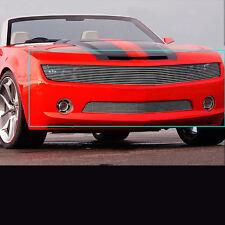 Fit 2010-2013 Chevy Camaro SS V8 Phantom Upper+Bumper Billet Grille Insert Combo