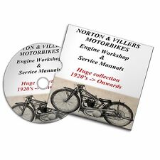 NORTON & VILLERS VINTAGE MOTO ENGINE SERVICE Workshop Manuals 1920 in poi
