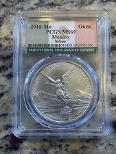 2015-Mo 1oz Silver Coin 0.999 Mexico Onza MS69