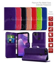 For Motorola Moto E6 Play Wallet Case Card Slot Book Cover PU Leather Phone Case