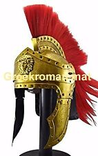 The Greek Corinthian Helmet with Plume Brass Ancient Helmet
