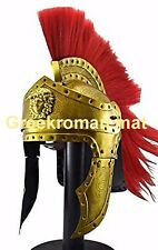 The Greek Corinthian Helmet with Plume Brass Ancient Helmet
