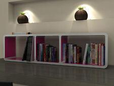 CUMIX DESIGN Regal System KMCM019 weiß , Innenseiten pink