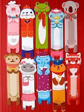 10X Animals Paper Bookmark Stationery Souvenir Collection Decoration Kids Gift