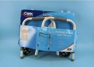 Carex Folding Walker for Seniors - Adult Walker With Wheels A87100#Z2B4
