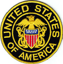 """""""UNITED STATES OF AMERICA"""" Military Patriotic USA Iron On Patch"""