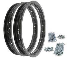 Rising Sun Black Aluminum Rim & Spoke Set - Honda CB350F CB350G CB360 CB400F