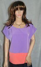 Papaya Purple Pink Colourblock Short Sleeved Top Size 18 NEW RRP £10