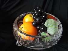**Bargain** Cut Glass 3-footed Fruit Bowl with Rose design Ref 1158